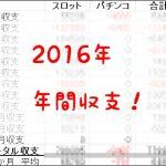 2016年12月の月間収支は0← 2016年の年間収支発表!